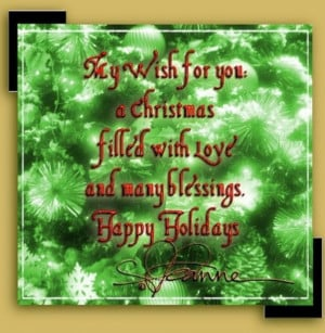 Happy Holidays Greeting Card and Quotes