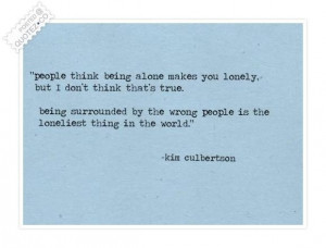 People think being alone quote