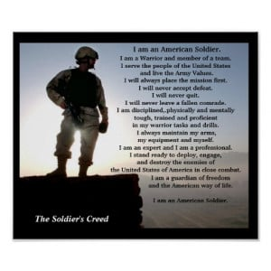 The Soldiers Creed Military Posters