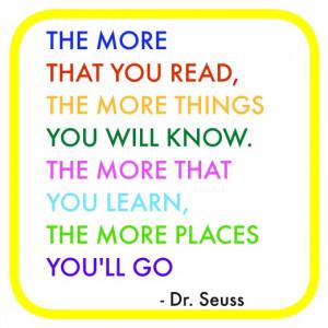 Dr Seuss Quotes Reading