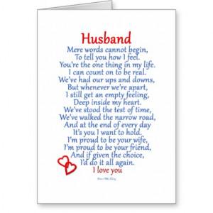 Husband Love Card