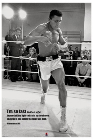 ... Muhammad Ali Poster. Fast Quote Vintage Boxing Heavyweight Champion