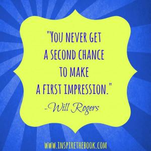 make a first impression.