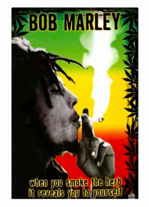 ... Home & Decor > Posters & Prints > Bob Marley Smoke Herb Wall Poster