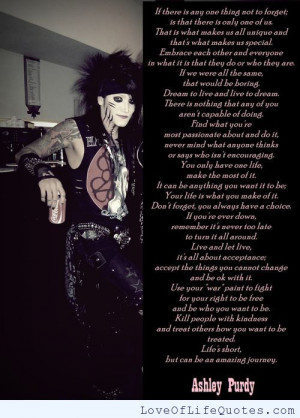 Ashley Purdy Quotes Ashley purdy quote on things