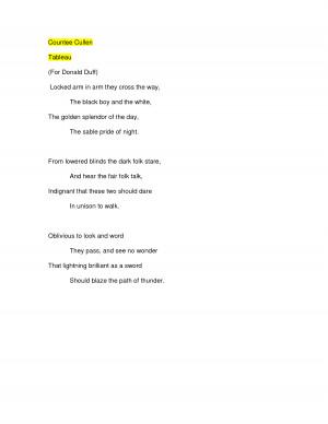 Countee Cullen Poem