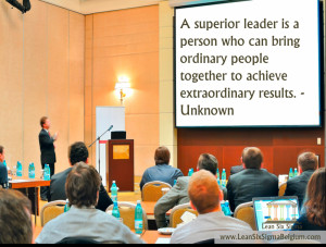 Operational excellence quote Lean Six Sigma Belgium_2