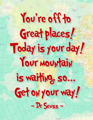 How fun are these Oh the Places You'll Go Dr. Seuss Printables ...