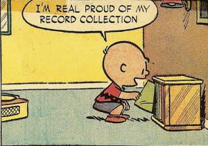 peanuts Charlie Brown comic strips vinyl Records Charles Schultz