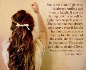 She's the girl..