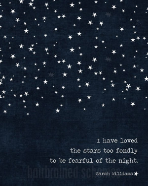 ... Night Poster Navy Blue Stars Modern Galileo Inspired Quote Print. $15