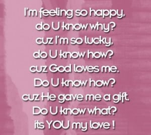 ... Blessed Quotes http://www.pics22.com/baby-quote-i-am-feeling-so-happy