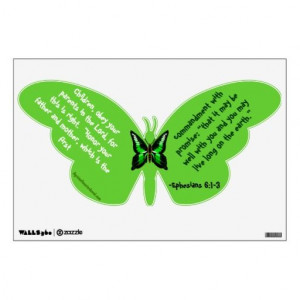 Obey Your Parents Butterfly Kids Room Sticker #Agrainofmustardseed # ...