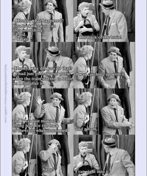 ... Ball & Desi Arnaz , I Love Lucy - The Great Train Robbery (season 5