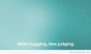 Funny hugging february quote