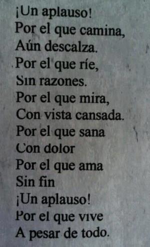 claps, quotes, spanish, vive