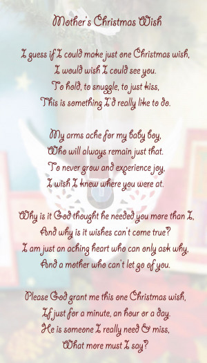 Missing You At Christmas Memorial and Quotations, Poems & Verses