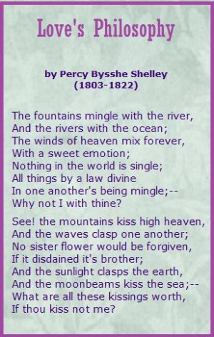 Love's Philosophy...Percy Bysshe Shelley