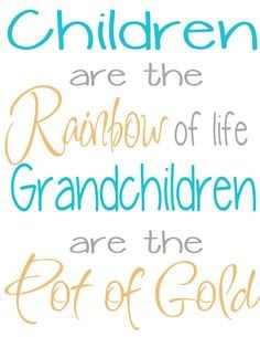 Grandchildren Pot of gold by saywithdesign on Etsy, $15.00 More