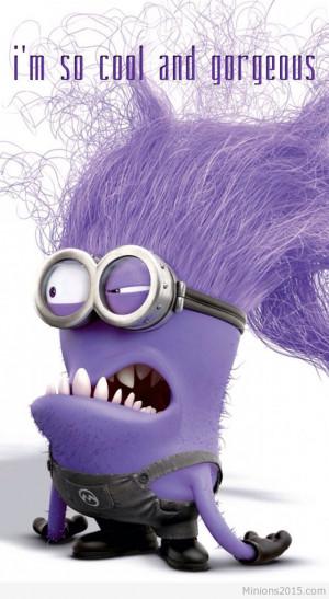 cool purple minion Cool purple minion image quote purple minion