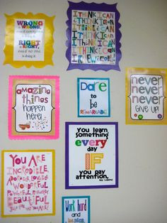 Inspirational classroom wall quotes I'll have my daughter make these ...