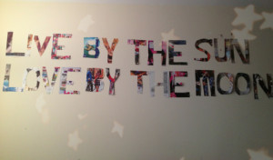 DIY: Magazine Wall Quote