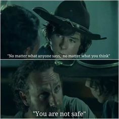 Rick Grimes to Carl at season 5 | The Walking Dead S5 trailer quotes