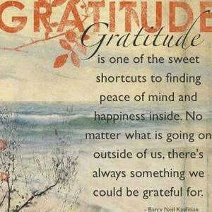 An Attitude of Gratitude…
