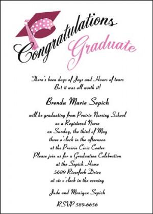 Nurse Graduation Congratulation Announcements areBecoming Very Popular ...