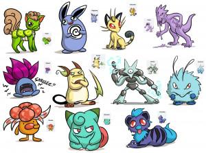25 Unique Pokemon Fusions by Ayame-Kenoshi