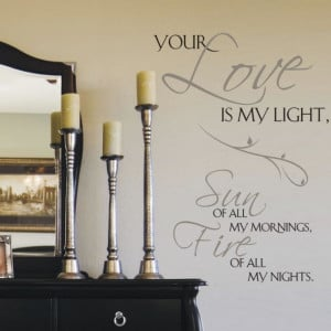 your love is my life wall sticker quotes