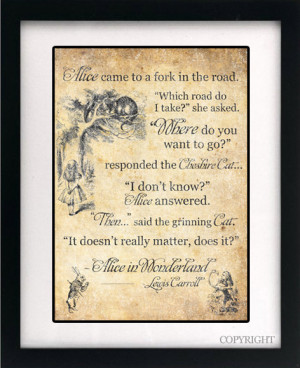 Alice in Wonderland Art Book Print - A3 or A4 Vintage Page Effect Wall ...