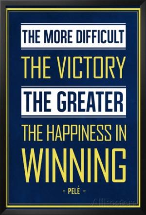 Pele Winning Quote (Brazil) Soccer Sports Art Print Poster Framed Art ...