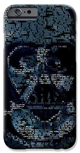 Darth Vader Quotes Mosaic iPhone Case by Paul Van Scott