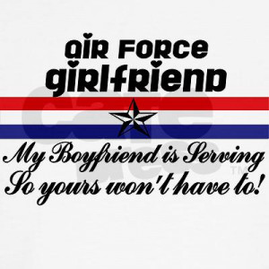 USAF Girlfriend My Boyfriend Is Long Sleeve T-Shirt