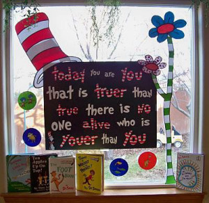 Dr. Seuss Read Across America Preschool and Kindergarten Bulletin ...
