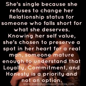 Single Relationship Status...