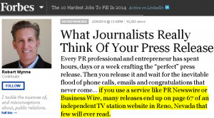 Forbes Quote about PR Newswire