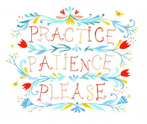 ... with students the importance of patience in online classroom