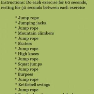 Jump rope circuit