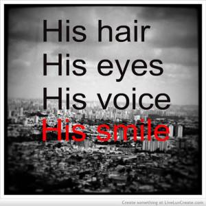cute, him, his smile, love, pretty, quote, quotes, you