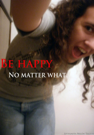 be happy, beauty quote, belen, curly hair, cute, girl, hair, happiness ...