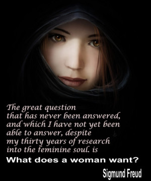 What does a woman want