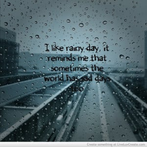 Rain Sad Days