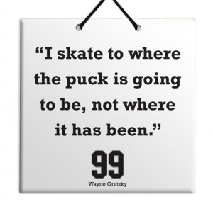 Wayne Gretzky - Where the puck is - Quote Ceramic Sculpture Wall ...