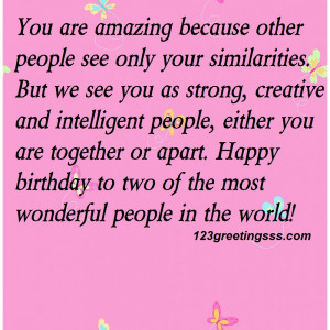 You are amazing because other people see only your similarities.