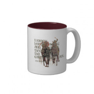 Will Rogers Horse Racing Quote Two-Tone Coffee Mug