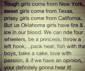 Oklahoma Girl Quote