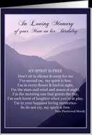 In Loving Memory of your Mom on her Birthday Cards Paper Greeting ...