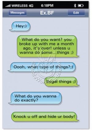 Text Ex Boyfriend Text Funny Picture Birthday Greeting Card Nobleworks